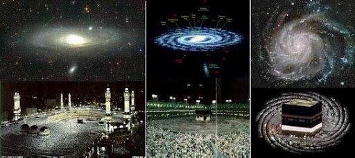 Hasil gambar untuk cahaya ka'bah tembus ke langit