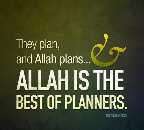 Allah the best planner