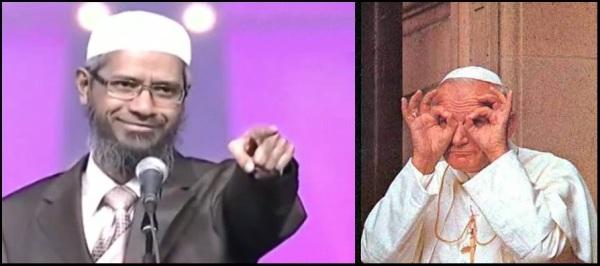 Zakir Naik vs Paus