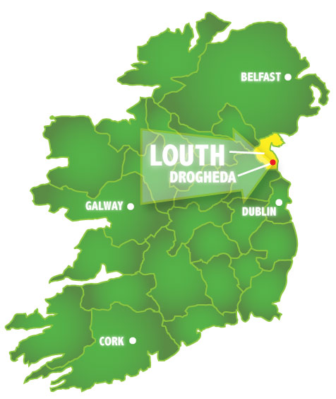 Ireland-Map-Drogheda